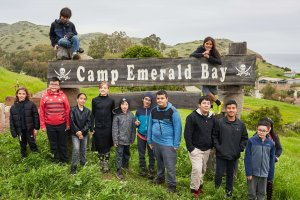 Students at Emerald Bay Sign
